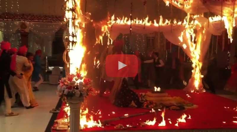 Kushal Tandon saves Jennifer Winget from fire in Beyhadh Set