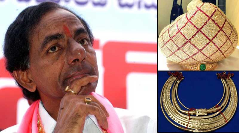 Telengana CM KCR donates whooping 5.6 crore ornaments to Tirumala temple