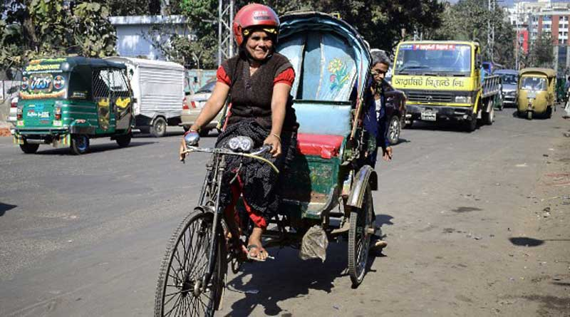 Braving society, she is the only woman rickshaw puller in Bangladesh