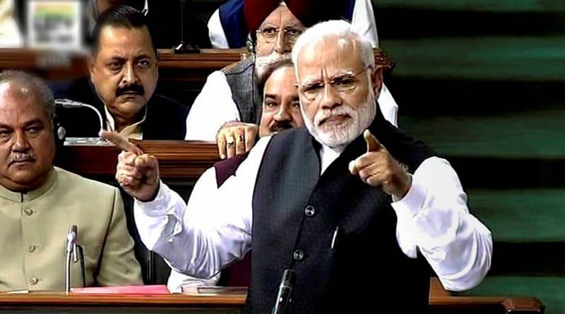 PM Narendra modi addresses Lok Sabha, takes jibe at Rahul Gandhi