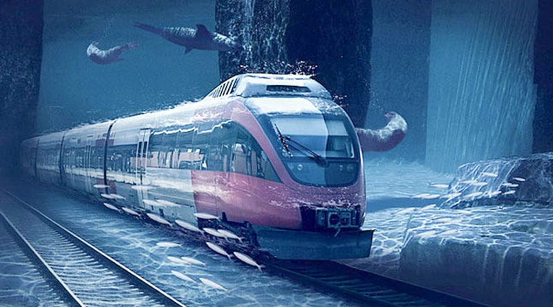 Drilling the 7-km route of undersea bullet train project at full swing