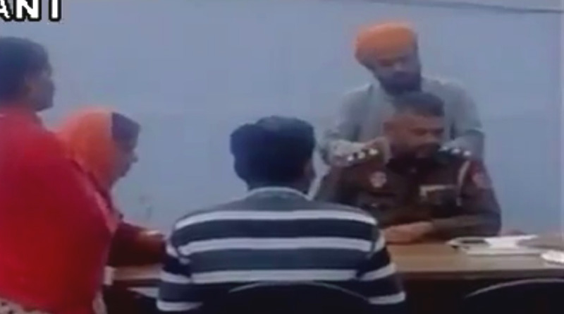 Cop in Amritsar asks a complainant to massage his back