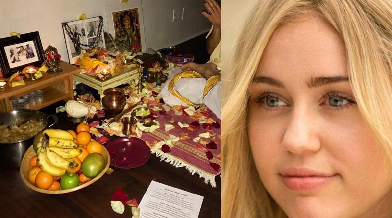 Miley Cyrus posts pics of performing Laxmi puja