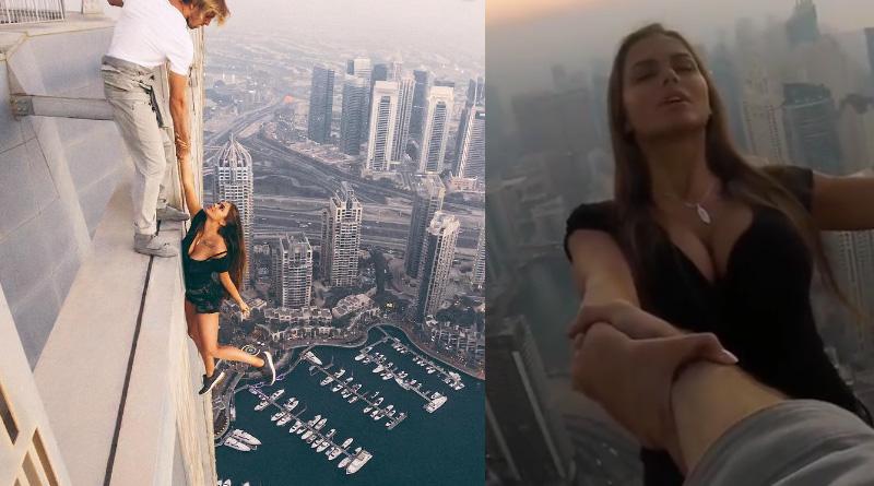 Bizzare Stunt of model sparks controversy in social media