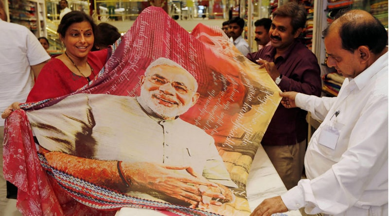 Now 'Modi Saree' to woo Women voters in Mumbai