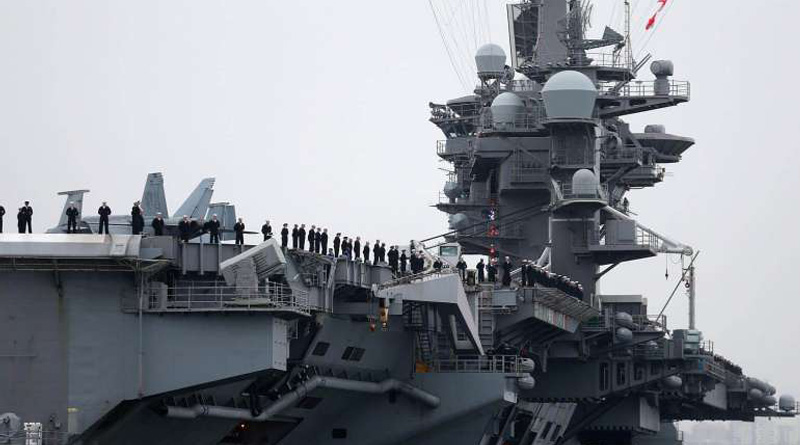 Tensed situation in south China sea as US Carrier Group Patrolling there
