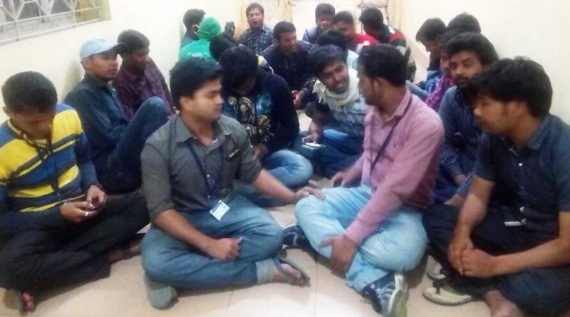 Student agitation in Gourbanga University