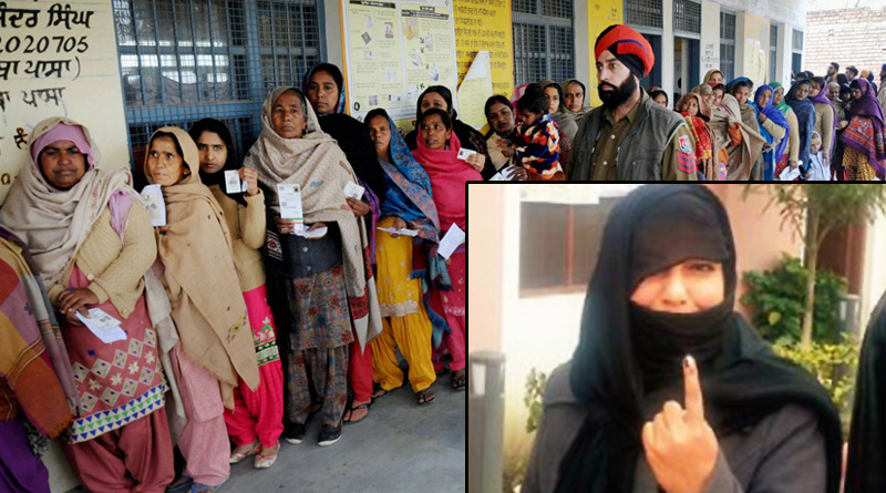 Pakistani bride votes for the first time in Punjab polls