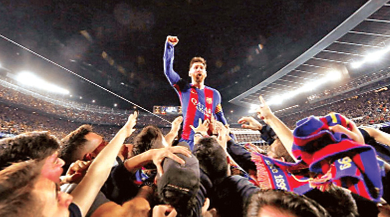Ground Shaking celebratory dance of Barca fans got Richter scale moving