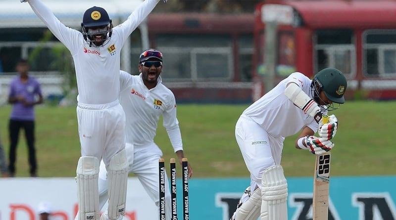 Bangladesh Cricketer opts for drs after getting bowled against srilanka