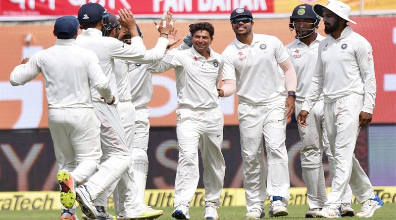 India retains edge riding Spinner Kuldeep Yadav's stint on Day 1 of Dharmasala test