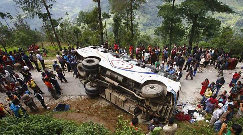Over 26 killed as bus turns turtle in Nepal
