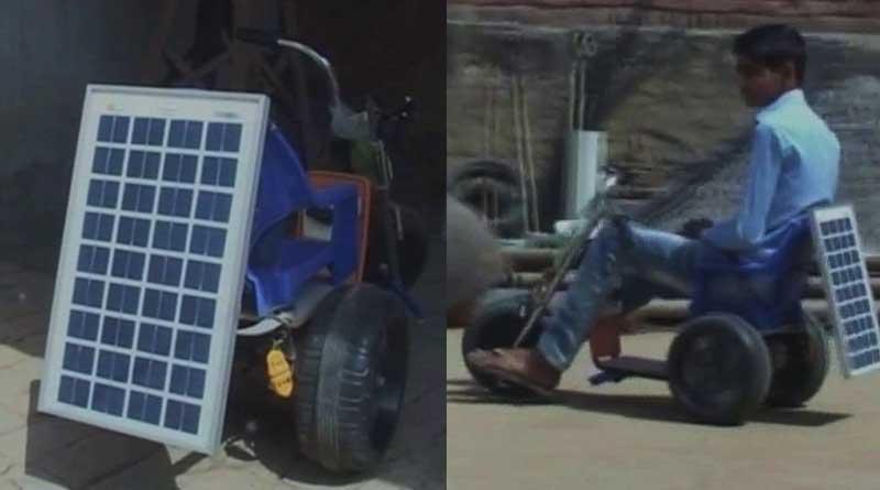 13-rear-old Haryana teen develops solar powered bike