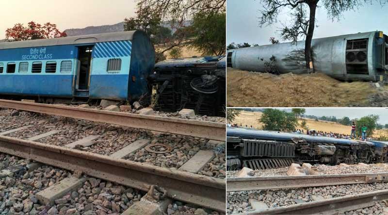 Mahakaushal express derailed in UP, several injured