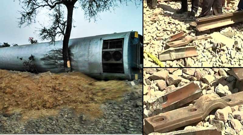 Sabotage suspected in Mahakaushal express derailment