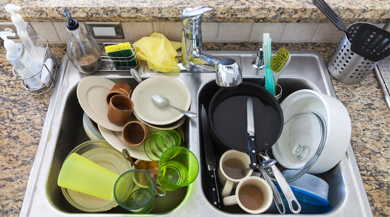 Unwashed dish may pose serious health risk