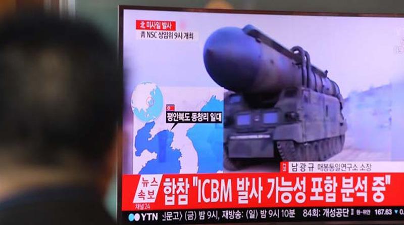 PM Abe says, North Korea tested four ballistic missiles into Sea of Japan