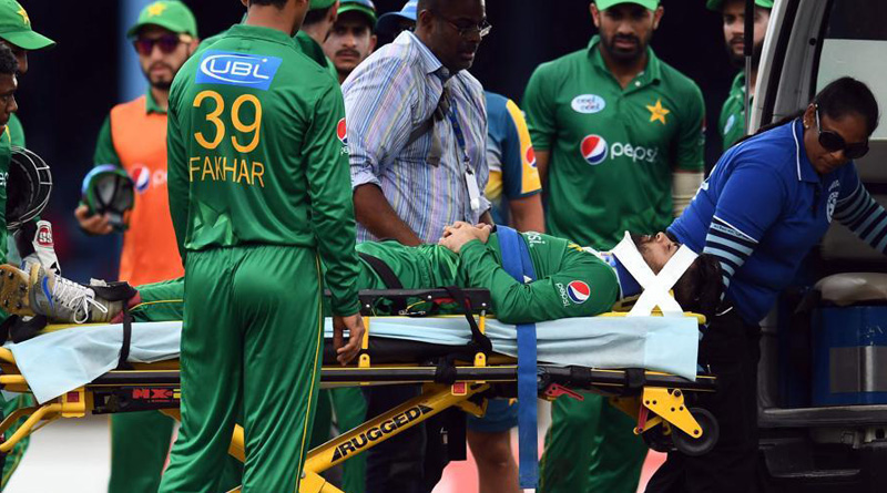 Pakistani cricketer Ahmad Shehzad suffers injury playing against West Indies