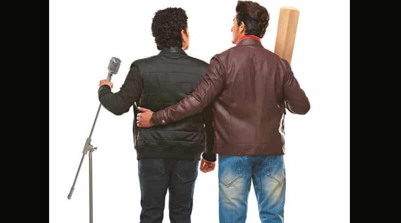Picture of Sachin Tendulkar holding mike, Sonu Nigam holding bat takes internet by storm