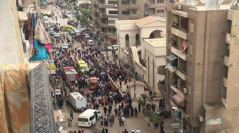 21 killed in explosion at Coptic Christian church in Egypt