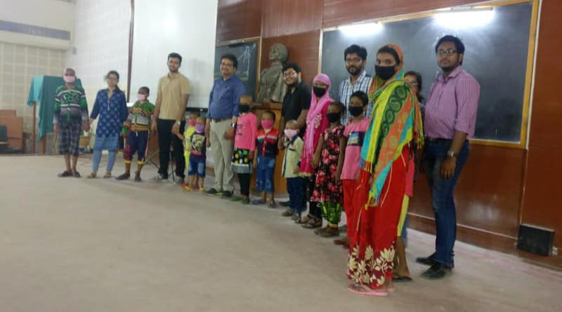 Child cancer patients walks on ramp, courtsey NRS doctors
