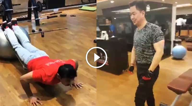 Video of terribly fit Rathore-Rijiju exercise will make you astound