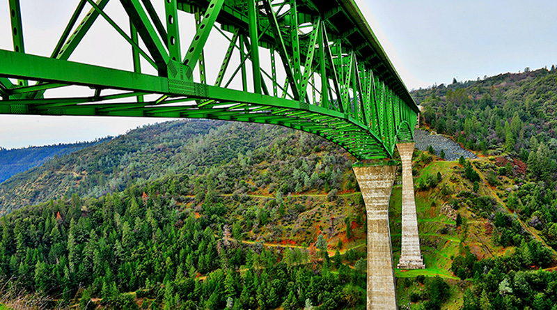 Woman falls off 730ft high California Bridge while taking selfie, survives