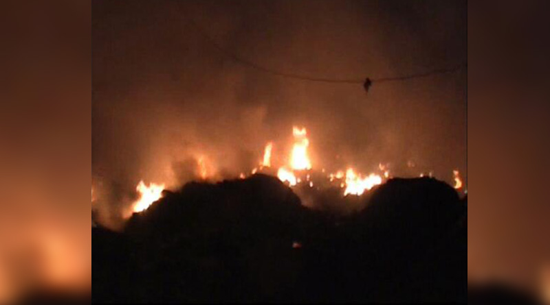 Massive fire in Rajarhat, over 100 shanties gutted