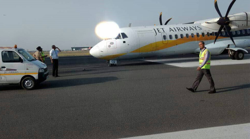 Jet Airways flight suffers nose wheel malfunction