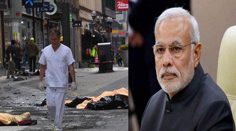 PM Modi condemns dastardly terror attack in Swedish capital