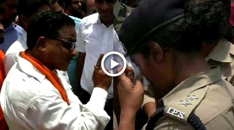 BJP lawmaker snubs lady IPS officer reducing her to tear