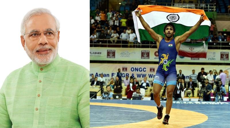 Asian Wrestling Championship: Narendra Modi congratulates Bajrang Punia for winning gold medel