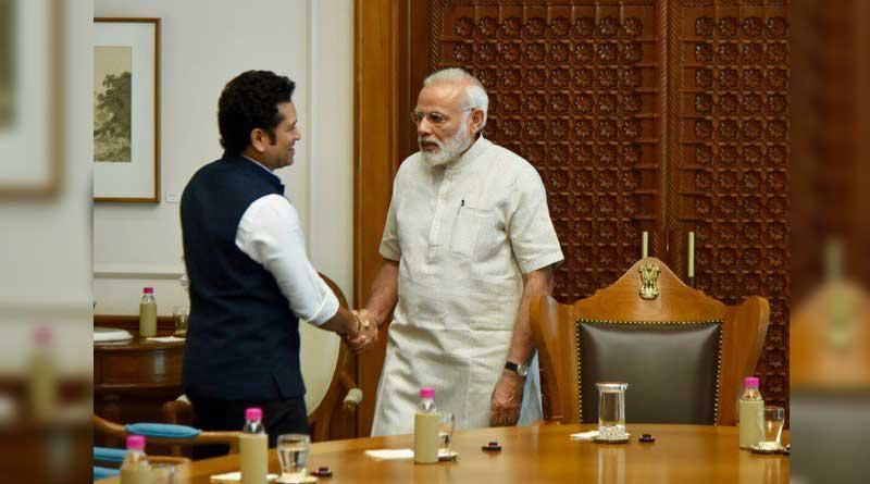 Sachin Tendulkar meets PM Modi before the launch of 'Sachin A Billion Dreams'
