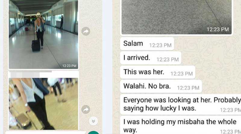 Sydney sheikh took 'sneaky image' of Random woman at airport