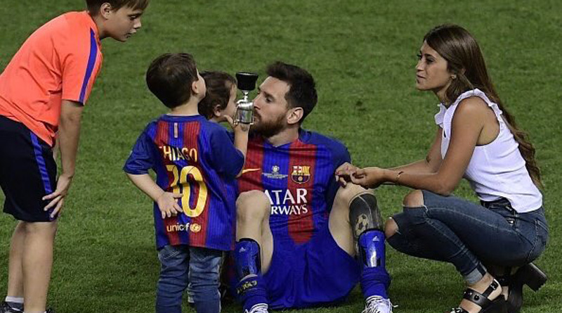 Watch how Leo Messi's son Mateo celebrating the Copa del Rey victory