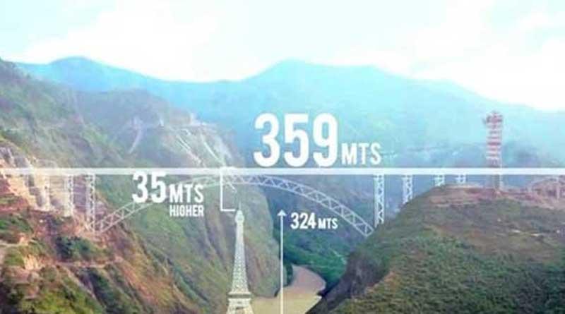 Railway bridge on Chenab in Kashmir to dwarf Eiffel Tower