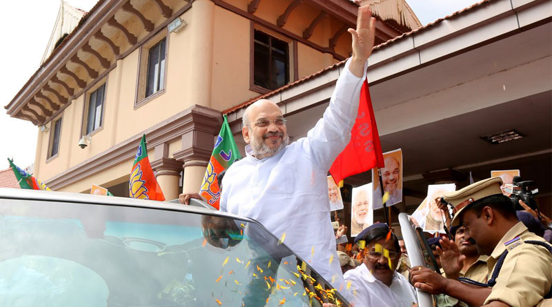Amid beef controversy BJP chief Amit Shah begins Kerala tour