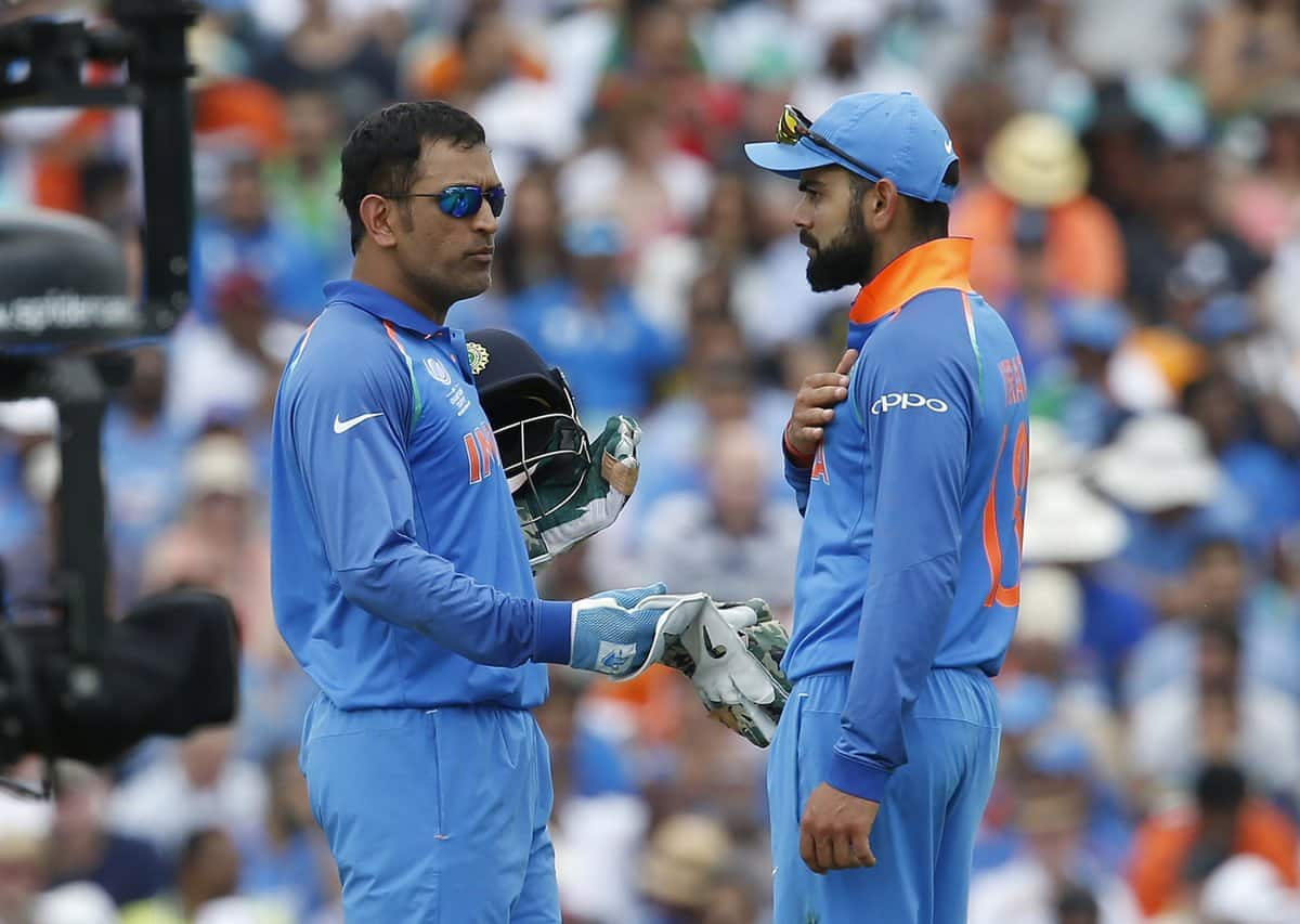 dhoni with virat