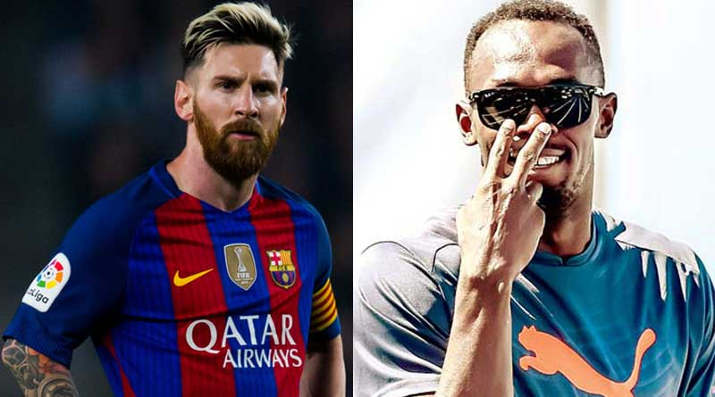 Usain Bolt challenges Lionel Messi for a run before quitting tracks