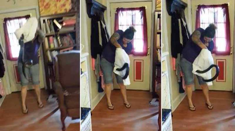 Video of woman taming deadly snake goes viral