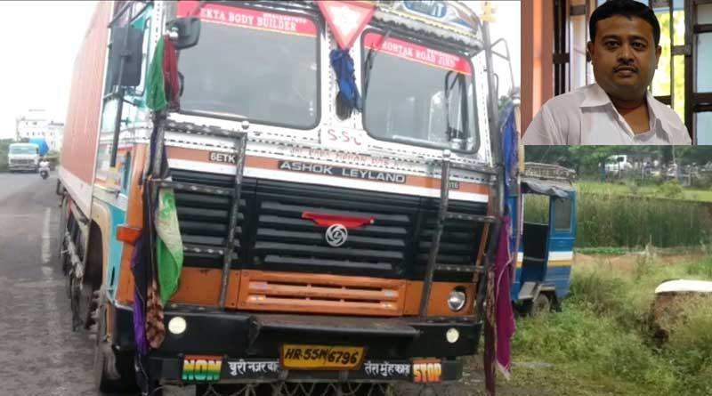 Truck rams TMC MP Dibyendu Adhikari's car