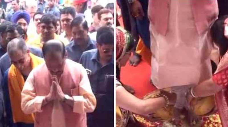 Jharkhand: Women wash feet of  CM on Guru Mohatsav, video goes viraleo goes viral