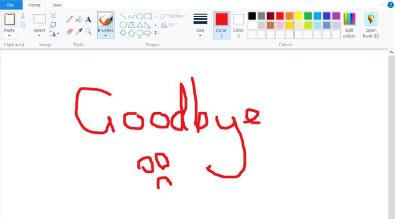 Say goodbye to your favourite Microsoft Paint