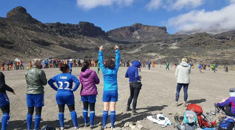 Highest ever football match: Female footballers break world record at Kilimanjaro