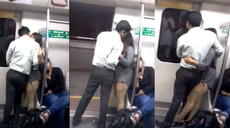 Cam catches couple in objectionable condition in Delhi Metro