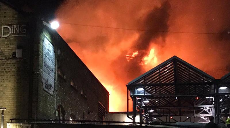 Fire breaks out in London's Camden Market