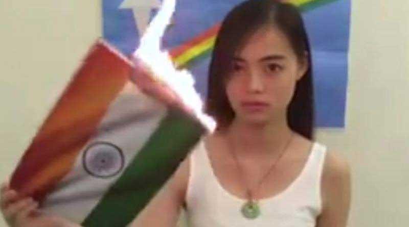 Girl burns tricolour in video seeking Pakistan's help for Naga sovereignty