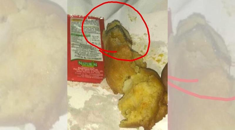 Passenger served 'bugged' pakodas from Sampark Kranti pantry