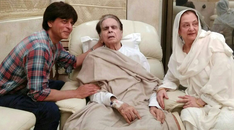 'Son' Shah Rukh Khan visits ailing actor Dilip Kumar