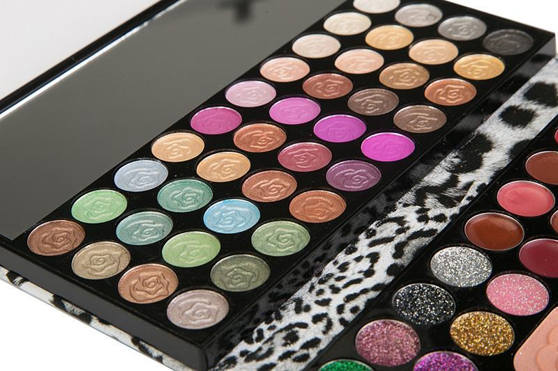 Leopard-Print-3-Dimensional-Make-Up-Kit-Eyeshadow-Lipgloss-Blusher-Pressed-Powder-Slap-up-Glitter-Eyeshadow